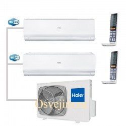 МУЛЬТИ-СПЛИТ-СИСТЕМА Haier AS12NS4ERA-W+AS09NS4ERA-W+3U19FS3ERA На две комнаты 35м2 20м2