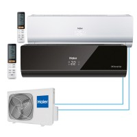 Haier AS12NS4ERА-B+AS09BS4HRA+2U18FS2ЕRA (S) На две комнаты 35м2 и 20м2