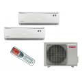 Мульти-сплит-системы TOSOT (Gree)  T14H-FM4/O / T09+09H-SLEuM/I на две комнаты по 25м2