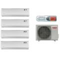 Мульти-сплит-системы TOSOT T28H-FM4/O / T07+07+09+09H-SLEuM/I на четыре комнаты 25м2 20м2