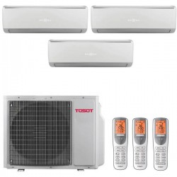 Мульти-сплит-системы TOSOT T21H-FM4/O / T07+07+07H-SLEuM/I на три комнаты по 20м2