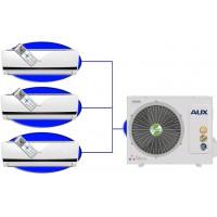 Мульти сплит-система AUX AM3-H27\4DR1/AMWM-H09\4R1+07+12На три комнаты по 20м2+25м2+35м2