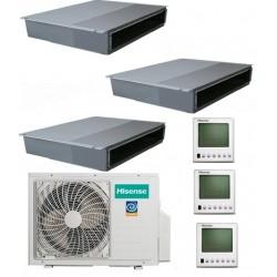 Мультисплит-система Hisense AMD-09UX4SJD*3+AMW3-24U4SZD На три комнаты по 25м2