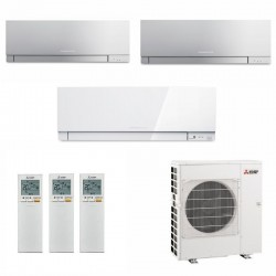 МУЛЬТИ СПЛИТ-СИСТЕМА MITSUBISHI ELECTRIC MSZ-EF22VE3S*2+MSZ-EF22VE3W+MXZ-3E54VA на три комнаты по 22м2