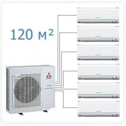 Мульти сплит-система MSZ-GE25VA *6 + MXZ-6D122 VA на шесть комнат по 25м2