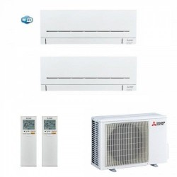 МУЛЬТИ СПЛИТ-СИСТЕМА MITSUBISHI ELECTRIC MSZ-AP15VG + MSZ-AP35VG (с Wi-Fi) + MXZ-2D42VA на две комнаты 35м2  15м2