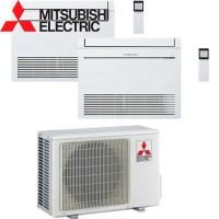 Mitsubishi Electric MFZ-KA35*2+MXZ-2E53VAHZ Zubadan -30°С две комнаты по 35м2