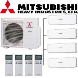 МУЛЬТИ-СПЛИТ-СИСТЕМА Mitsubishi heavy SKM20ZS-S*4+SCM71ZМ-S на четыре комнат по 20м2