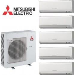 Мульти сплит-система MSZ-GE25VA *5 + MXZ-5D102 VA на пять комнат по 25м2