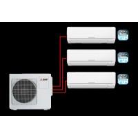MITSUBISHI ELECTRIC MSZ-DM25VA×2 + MSZ-DM35VA / MXZ-3DM50VA на три комнаты по 25м2