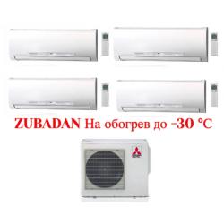 МУЛЬТИ СПЛИТ-СИСТЕМА Mitsubishi Electric MSZ-FD35VA*4шт + MXZ-4E83VAHZ на четыре комнаты по 30м2