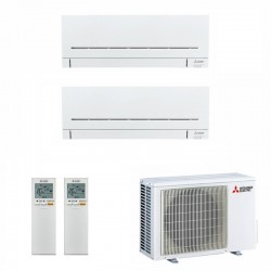 МУЛЬТИ СПЛИТ-СИСТЕМА MITSUBISHI ELECTRIC MSZ-SF15VA+MSZ-SF35VE+MXZ-2D42VA на две комнаты 35м2 15м2
