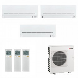 МУЛЬТИ СПЛИТ-СИСТЕМА MITSUBISHI ELECTRIC MSZ-SF20VA*2+MSZ-SF35VE+MXZ-3E68VA на три комнаты 35м2 20м2 20м2