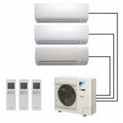 Мультисплит-система DAIKIN CTXS15K*2+FTXS20K+3MXS52E на три комнаты: 20м2+15м2+15м2