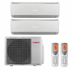 Мульти-сплит-системы TOSOT T14H-FM4/O / T07+07H-SLEuM/I на две комнаты по 22м2