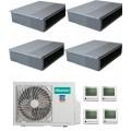 Мультисплит-система Hisense AMD-09UX4SJD*3+AMD-18UX4SJD +AMW4-36U4SAC На четыре комнаты 50м2 и три по 25м2