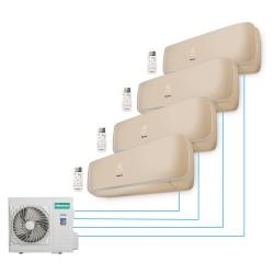 Мультисплит-система Hisense AMS-09UR4SVETG67(C)*4+AMW4-36U4SAC  На четыре комнаты по 25м2