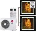 Мульти сплит система LG MA09R+MA12R/ MU2M17 на 35м2 и 20м2 картина