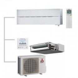 МУЛЬТИ СПЛИТ-СИСТЕМА Mitsubishi Electric MSZ-LN25VGW+SEZ-M25DA+MXZ-2D42VA на две комнаты по 25м2