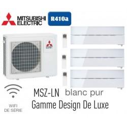 MITSUBISHI ELECTRIC MSZ-LN25VGW 3шт MXZ-3E68VA на три комнаты 25м2