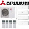МУЛЬТИ-СПЛИТ-СИСТЕМА Mitsubishi heavy SRK20ZS-W 2+ SRK25ZS-W 2шт +SCM80ZМ-S1 на четыре комнат две по 25м2 две по 20м2