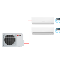 Мультисплит-система Mitsubishi Electric MSZ-DM25VA×2 / MXZ-2DM40VA