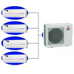 Мульти сплит-система MSZ-GE25VA *4 + MXZ-4E83VAHZ на четыре комнаты по 25м2 Zubadan