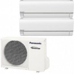 МУЛЬТИ-СПЛИТ-СИСТЕМА Panasonic CS-E15NKDW+E9NKDW+CU-4E23JBE На две комнаты 25м2 45м2